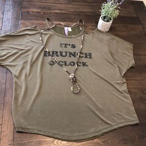 Francescas olive green blouse
